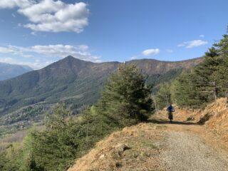Strada per il punto panoramico