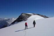 Fabiano e Laura in salita verso la quota 3626 m del Tournelon Blanc