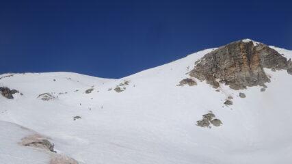 Itinerario di salita dal Col Des Meandes