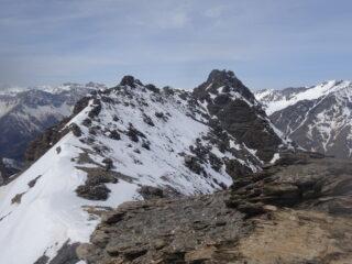Tete Pierre Muret e cresta omonima dalla vetta quota 2.981