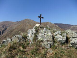 Monte Scarcella , a metà della cresta