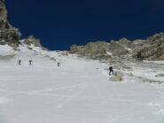 Il tratto sostenuto nei pressi del ricovero di quota 2450 m.