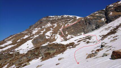 Pare impossibile ma abbiano trovato una linea continua di neve da sciare.