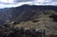 Veduta verso il Passo del Faiallo e il monte Reixa dal Bric del Dente