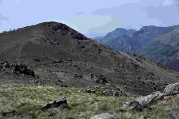 Il monte Tardia Ponente e il monte Rama dal Tardia Levante