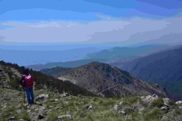 Veduta verso Sud-Ovest dalla cresta Sud del Tardia Ponente
