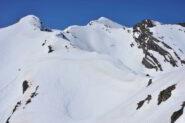Veduta verso l'Enchastraye e la quota 2794 m dalla spalla della Pe' de Jun