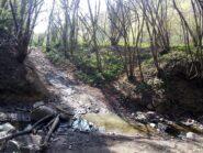 Il piccolo guado del rio Crivella.