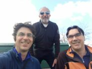 Selfie di gruppo sul panchinone