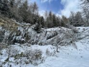 Ancora ghiaccio nel pomeriggio, molto pittoresco.