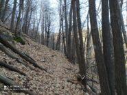 Sentiero alternativo per raggiungere Miroglio.