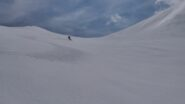discesa dalla Brignola su neve più umida