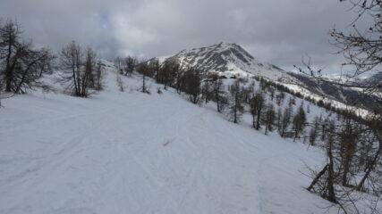 il Monte Bertrand visto dalla cresta spartiacque Tanaro - Roya