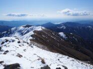 Panorama verso Monte Croce, Monte Ostano e Lago d'Orta.