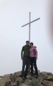 Io e mia moglie in cima