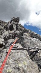 cresta finale dal vago sapore alpinistico..