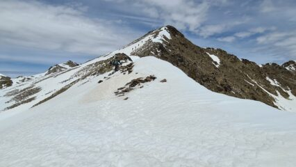 la cresta da risalire per raggiungere la cima