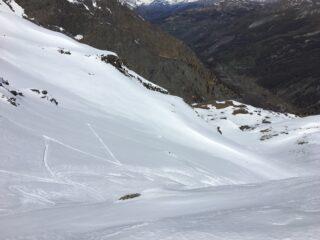 Pendii intermedi e Valle Argentera in basso