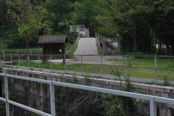 L'arrivo alla presa dei Canali Industriale e Villoresi