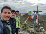 In vetta a Punta Martin con Federico e Michele