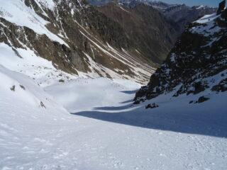Parta bassa del canale delle guglie di Lausa