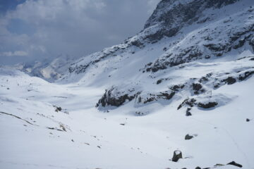 Quota 2530 m, dove mi sono fermato, vista verso valle