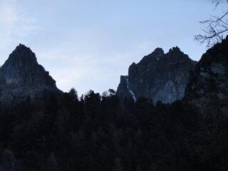 Il canale visto dal sentiero verso il Rifugio Vallanta