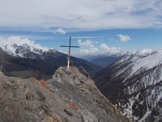 la croce di vetta del M.Peyron..