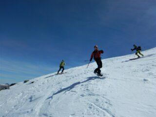 Stellino e Caba in partenza dalla cima