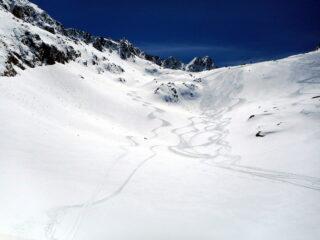 vallone di Seccia in neve primaverile perfetta