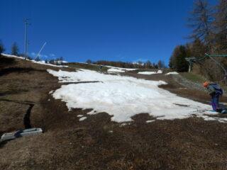 ultima striscia di neve