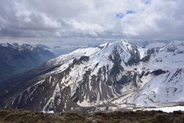 La Cima delle Lose e la valle Stura dalla vetta