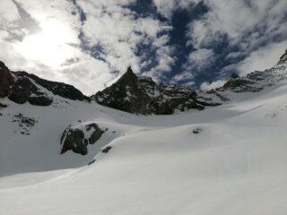 Itinerario di salita sotto cima del Bouc