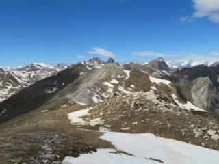 dalla Cima verso il Monte Viridio e Rocca la Meja