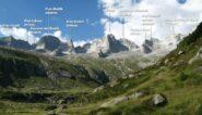 Salendo al Rif. Gianetti per la Val Porcellizzo.