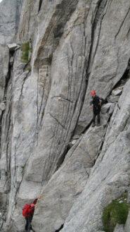 Primi tratti su roccia.