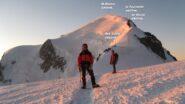 Prime luci al Dôme du Goûter 4304mt.