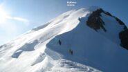Sul tratto di cresta passato les Bosses a circa 4600mt. che sale verso la Tournette.