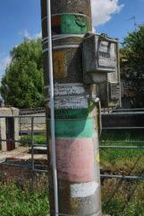 Le indicazioni sul palo al vecchio mulino a Lamporo