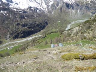scendendo sull'Alpe Rulè....