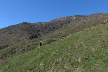 Poco dopo la partenza dall'Alpe Bianca