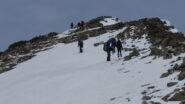 avvicinandoci alla cima della Rocca Negra