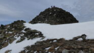 l'arrivo in cima alla Rocca Negra