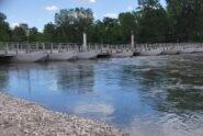 Il ponte di chiatte a Bereguardo visto sovracorrente in sponda sinistra