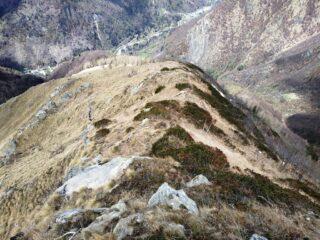 Discesa dalla Punta maggiore delle Gheule verso Cernisio.