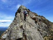 Salendo in cresta verso Cornabecco.