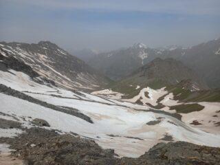 Vallone risalito visto dalla cima
