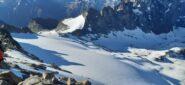 Ghiacciaio Gelè visto dalla cima (sulla sx il colle Mont Gelè)