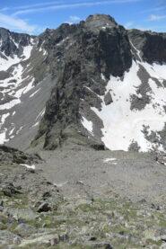 Dalla cima vista sul Passo del vallone