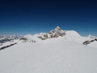 Castore, Lyskamm,Weisshorn visti dalla cima